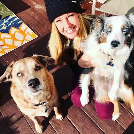 Davenport with her dogs