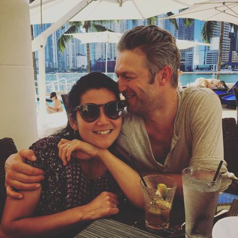Peter Scanavino with his wife