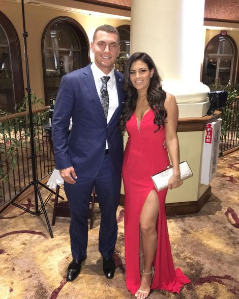 Albert Almora and his partner