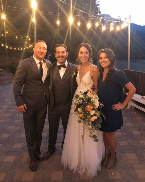 Justin Gaethje at his friend wedding