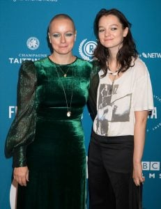Samantha Morton with her daughter Esme creed-miles from her previous marriage.