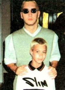 Nathan with his brother Eminem when he was in his teens.