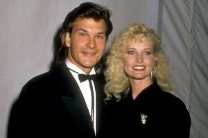 Albert's wife and her ex-husband late Patrick Swayze.