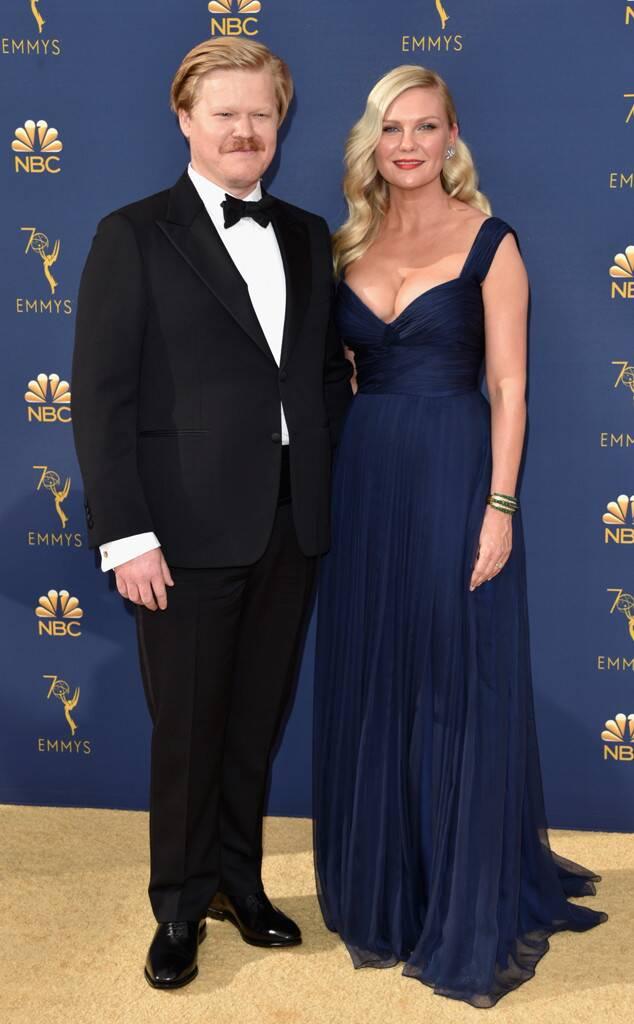 Jesse Plemons with his fiancee