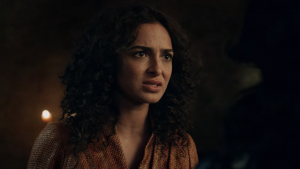 Anna shaffer during the shoot of Netflix series The Witcher.