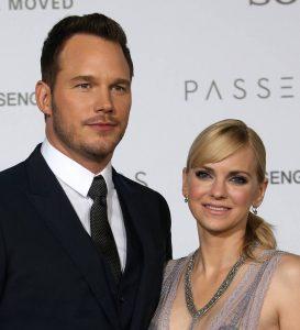 Chris Pratt and Anna Faris during the premiere of Passenger.