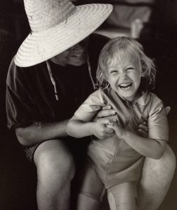 Birgen with her father late Phil Hartman.