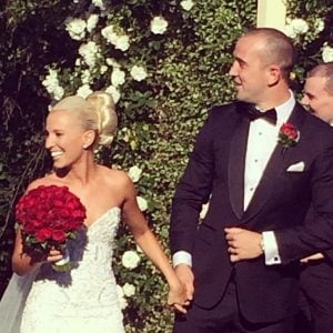 Rachel shared her wedding picture on her social media account