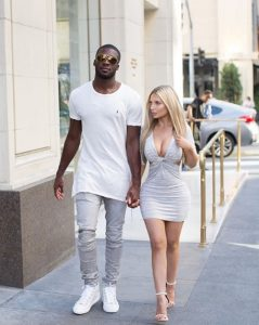 Viviana with her boyfriend, Nelson Agholor.