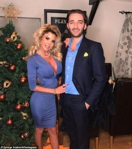 Hannah with her ex-fiance, George Andreetti.