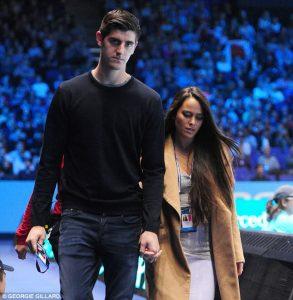 Brittny Gastineau with her ex-boyfriend Thibaut Courtois.