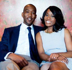 Jones with her husband Antoine Bell