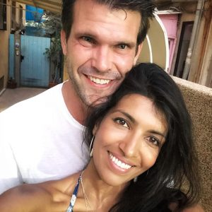 Leila took a picture with her husband Tassilo