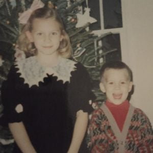 Katie with her younger brother David