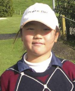 She started playing golf from age 5.