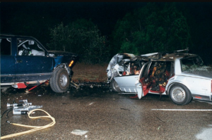 The car crash that killed two passenger and burnt the face of jacqueline saburido