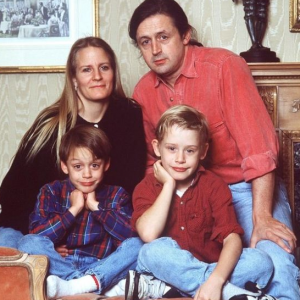 Patricia Brentrup with former partner Kit Culkin and two children