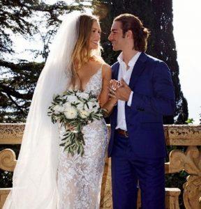 Birgen Hartman with her husband, Brandon.