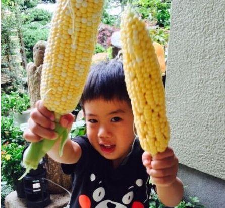 Akiko Matsuura and Charlie's son