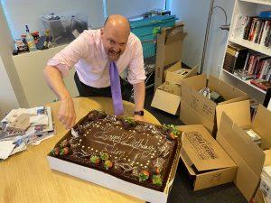 Jim celebrating his birthday