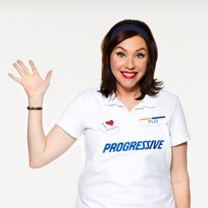 She gained fame as the character Flo.