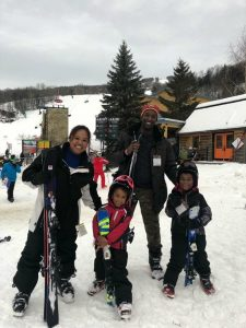 Q McCray and his family on their vacation to Mont-Tremblant, Quebec