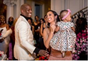 Samantha with her husband Tyrese and daughter Soraya