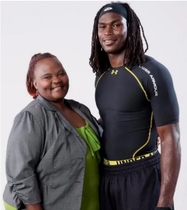 Julio Jones with his mother, Queen Marvin.