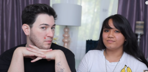 Manny Mua with his only ex-girlfriend, Kathryn. Image