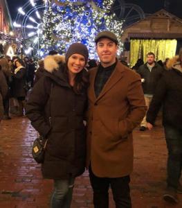 Erika with her husband, Paul Arias.