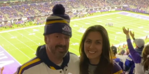 Chad Daniels with his wife Traci Daniels.