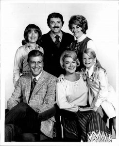 Carrie with her father 's show co-actor in The New Dick Dyke Show.