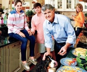 Merri with her family,dad,mother, brother and pet.