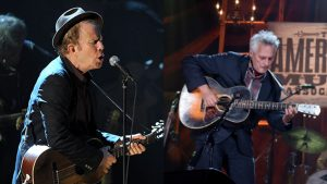 Marc Ribot with his friend, Tom Waits in Concert.