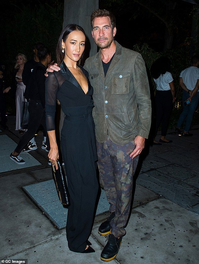 Maggie Q with her former partner