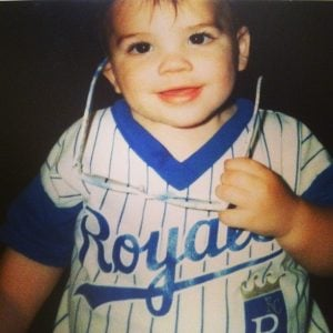 Dansby took a picture in his early years