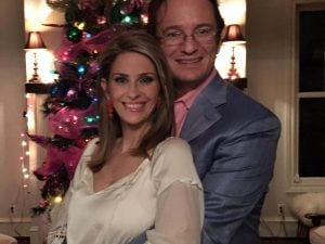 Lauren and her husband Forrest took a picture during Christmas