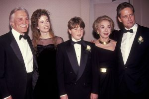 Cameron Douglas with his family members in an event.