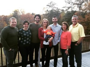 Dansby took a picture with her family while attending a family gathering