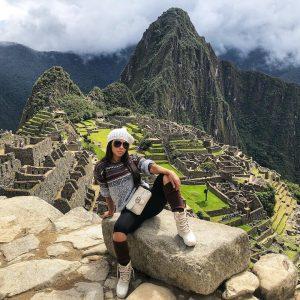Jessica Visited Machu Picchu in Peru during her vacation