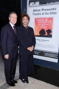 Janet and her husband William took a picture during an event