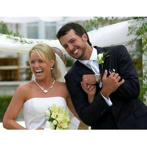 Luke Bryan with his beautiful wife, Caroline Boyer in wedding day.