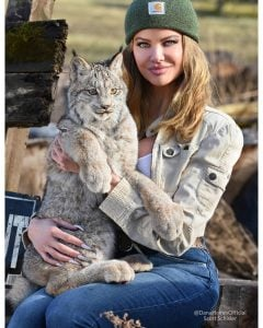Dana took a picture with a wild mountain cat