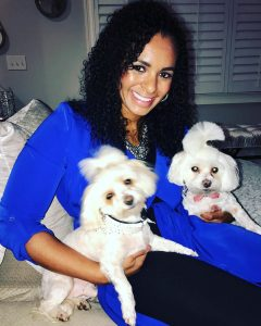 Aiyana with her two pet Lilly and Whitaker