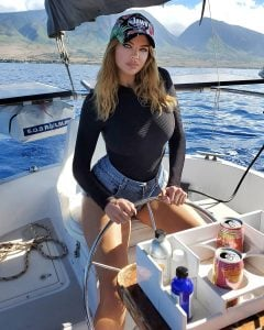 Dana took a picture while traveling to Hawaii to attending a Humpback Whale season