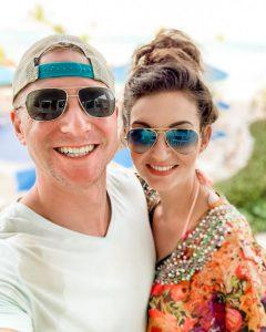 Corrina with her boyfriend Matt while enjoying their vacation