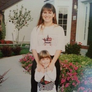 Kylie took a picture with her mother on her early days