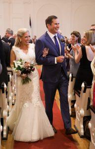 Liz Boardman and Seth Moulton's wedding picture.