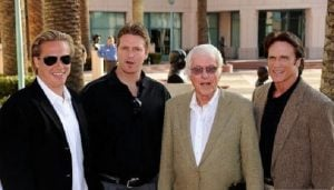 Carey Van Dyke with his father, grandfather and brother, Shane.