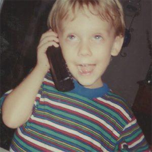 Matt Watson at an early age.